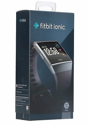 *BRAND NEW SEALED* Fitbit Ionic Smartwatch One Size (S & L Bands Included)