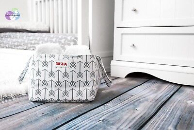 Diaper Storage Caddy By Danha – Portable Diaper Bag And Stacker With Beautiful