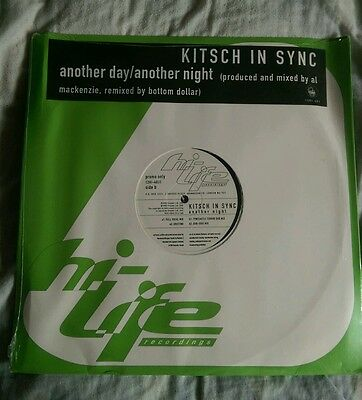 """Kitsch In Sync Another Day Another Night 12"""" Vinyl Unopene Hi-Life Records 1995"""
