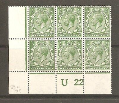 GV Spec N14  Control U22 shading by Halfpenny Mounted Mint
