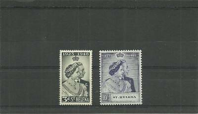 St Helena Sg143-144 1948 Silver Wedding Mounted Mint