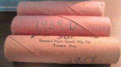 3 Rolls Of 1959 Lincoln Cents