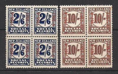 NEW ZEALAND  1955-58  Social Security  stamps