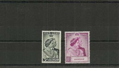 Ascension Sg50-51 1948 Silver Wedding Set Mnh