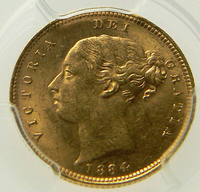 1884 UNC Queen Victoria Gold Half Sovereign PCGS MS63, CGS 75-78 ☆☆☆ Reduced ☆☆☆