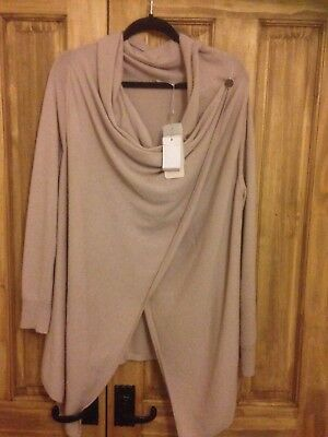 Jacque Vert Cardigan Pinky beige cashmere blend large great Xmas present