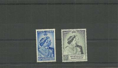 Bechuanaland Protectorate Sg136-137 1948 Silver Wedding Set Mounted Mint