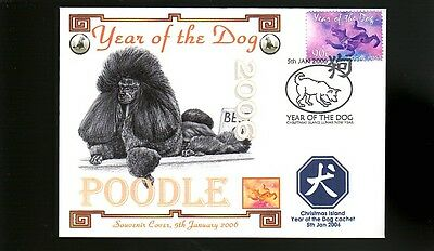 Poodle 2006 Year Of The Dog Stamp Cover 2