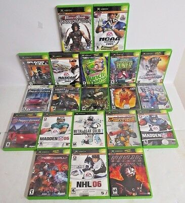 Microsoft Xbox Original Lot of 20 Games