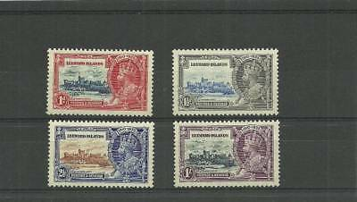 Leeward Islands Sg88-91 1935 Silver Jubilee Set  Mounted Mint