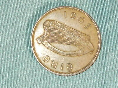 1963 Eire Ireland 1d One Penny Coin
