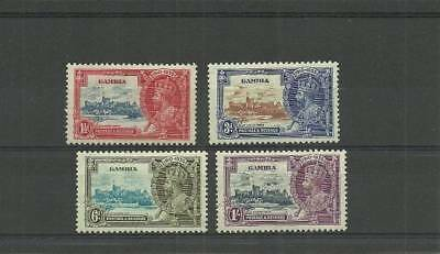 Gambia Sg143-146 1935 Silver Jubilee Set  Mounted Mint