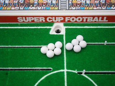 Set of 10 Replacement White Footballs for Tomy Super Cup Football Game