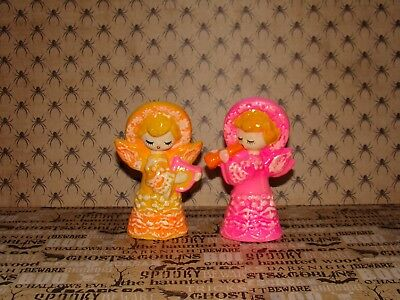 Lot Of 2 Mid-Century Modern ~Christmas Angels~ By Dickson Made In Japan