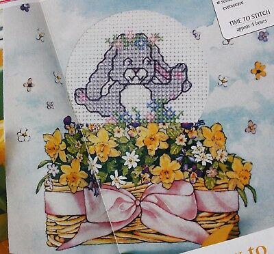 'Easter Greetings' - Easter Bunny Small Cross Stitch Chart & Kit