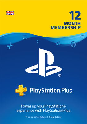 Playstation Plus 12 Month Membership For PS4 worldwide