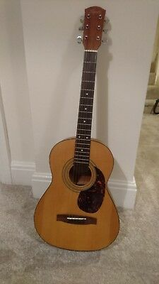 Squier by fender 20th anniversary MA-1 3/4 Size Acoustic guitar, exc, with case