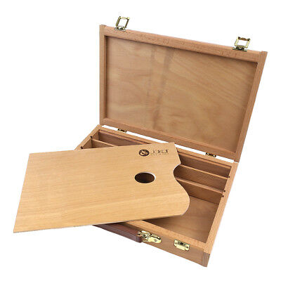 Jakar Artists' Quality Empty Wooden Sketch Box. Ideal Storage for Oils Acrylics