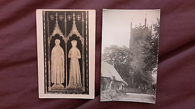 2 x Old postcards of Chipping Campden Church, Gloucestershire - Greville Brass,