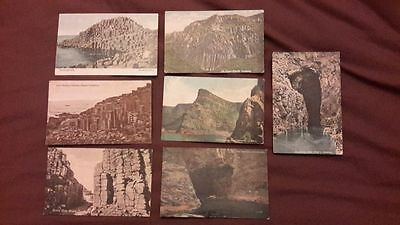 7 x Old postcards of the Giant's Causeway, Ireland