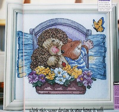 'Best Friends' - COUNTRY COMPANIONS Cross Stitch Chart - Hedgehog & Mouse