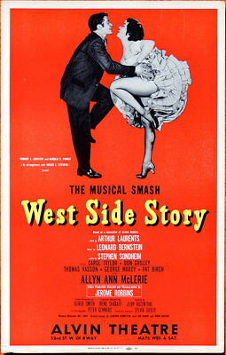 TRITON offers 1960 original Broadway musical poster WEST SIDE STORY musical hit