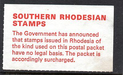 Souther Rhodesia Uk Government Udi Label