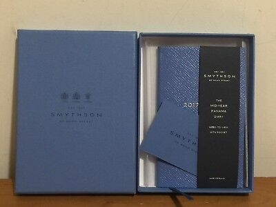 Smythson The Mid Year Panama Diary In Pale Blue
