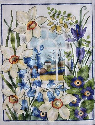 'A Room With A View - Spring' Cross Stitch Chart