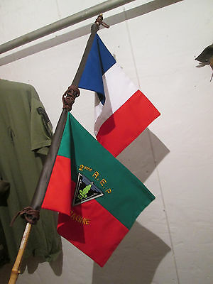 French Foreign Legion Etrangere - 2 REP-3 CIE -FLAGS antenna jeep