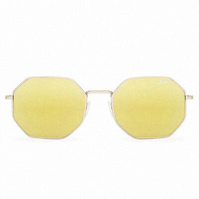 Quay Women's On A Dime Sunglasses Gold/Gold Mirror Lens