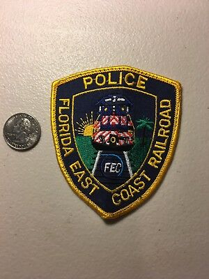 Florida East Coast RR Police Department Patch Fl