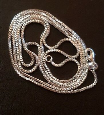 "WHOLESALE .925 STERLING SILVER 22"" 2mm ROLO CURB NECKLACE AND GIFTBOX."