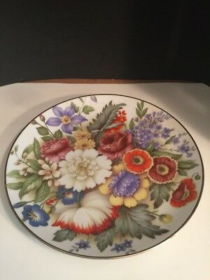 The American Collection Series Bouquet American Dinner Plate Dave Grossman