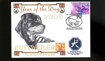 Rottweiler 2006 Year Of The Dog Stamp Cover 2