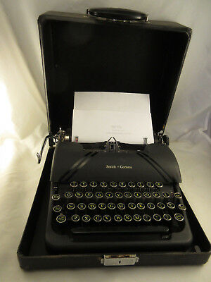 Vintage 1947 Smith Corona Sterling Typewriter 4A Series Floating Shift w/ Case