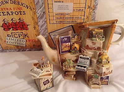New Boxed Cardew Collectable Novelty Lrge Lilliput Lane Market Stall Teapot Mint