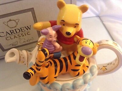 Cardew Rare Collectible Novelty Winnie Pooh Birthdy Cake Teapot Perfct Condtion