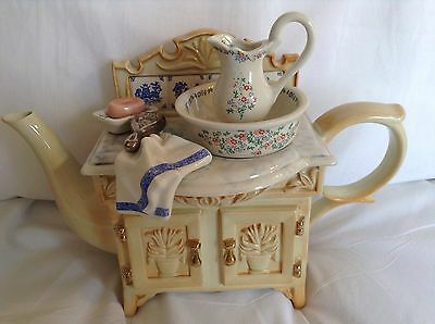 Cardew Novelty Collectable Large Teapot Ladies Vanity Washstand Great Condition