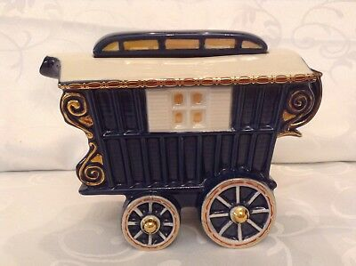 Teapottery Swineside Novelty Collectable Teapot Romany Caravan Lovely Condtion