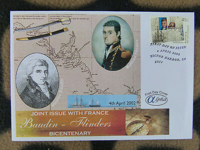 Scarce Alpha First Day Cover - Aus & France Joint Issue. Baudin & Flinders
