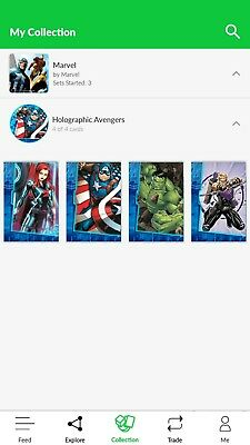 "Quidd ""Holographic Avengers"" WHOLE SET! RARE! (Marvel)"