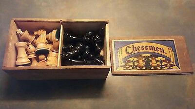 Vintage set of Chessman chess pieces in original box