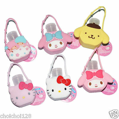 Hello Kitty Little Twin Star Pocketpac Travel Holder Sanitizer Dispenser Bottle
