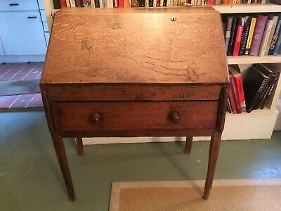 Antique wooden drop leaf desk