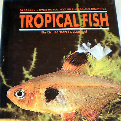 Tropical Fish - T F H Vintage 1988  - 100+ Full Color Photos/Drawings Paper Book