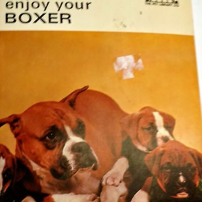 Vintage 1967  Pet Library Book - Enjoy Your Boxer - Dog Care Paperback