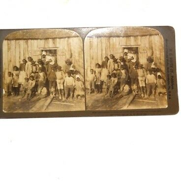"African American Stereoview Humorous Father ""Tree Two Times, Two Tree Times"" '03"