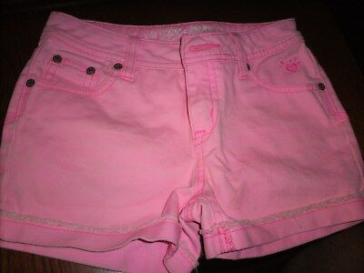 Justice 100% Cotton jean pink shorts girls Size 12S simply Low Casual Nice Sport