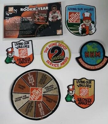 Home Depot exclusive patches and pin lot of 7 items